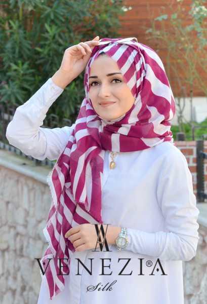 AKEL - Akel Asimetrik Desen Fileli Cotton Şal 32610-002 (1)