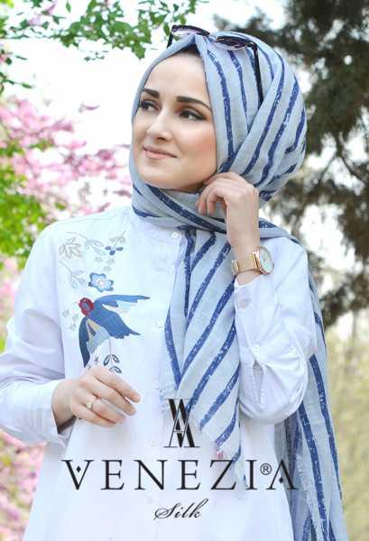 AKEL - Akel Çizgili Desen Cotton Şal 35241-014 (1)