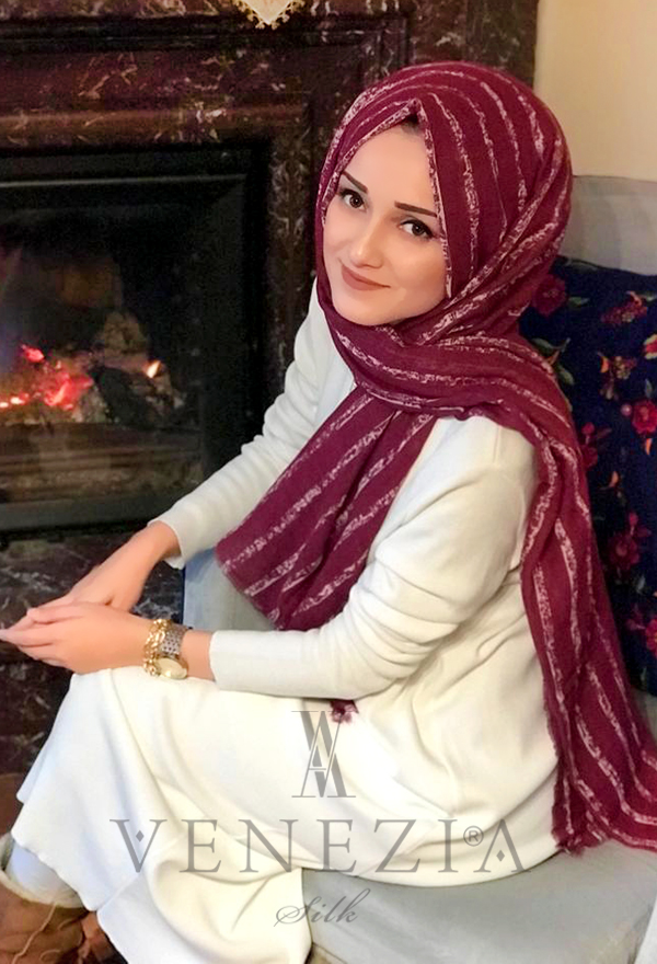 Akel Çizgili Desen Cotton Şal 35241-020