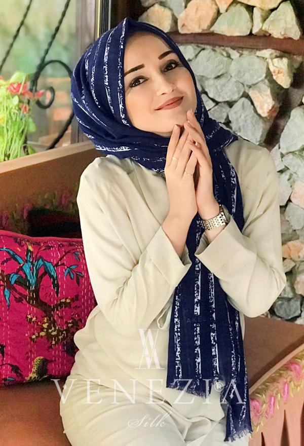 Akel Çizgili Desen Cotton Şal 35241-016