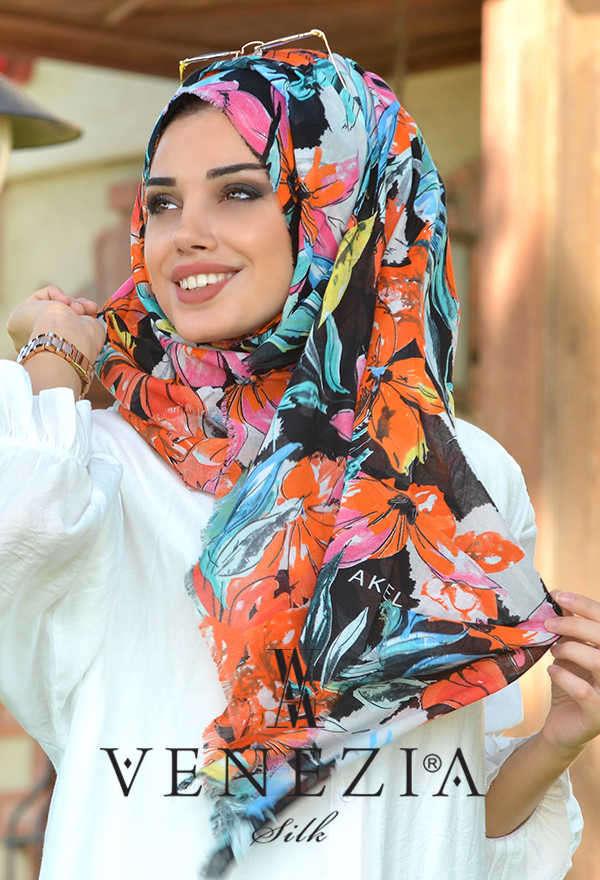 AKEL - Akel Festival Desen Cotton Şal 36205-009 (1)