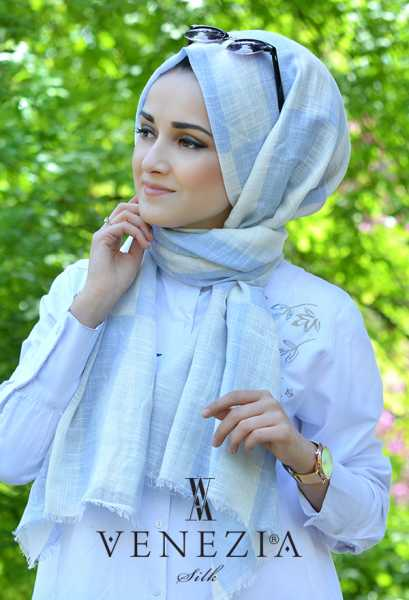 AKEL - Akel Geometrik Desen Cotton Şal 35242-002 (1)