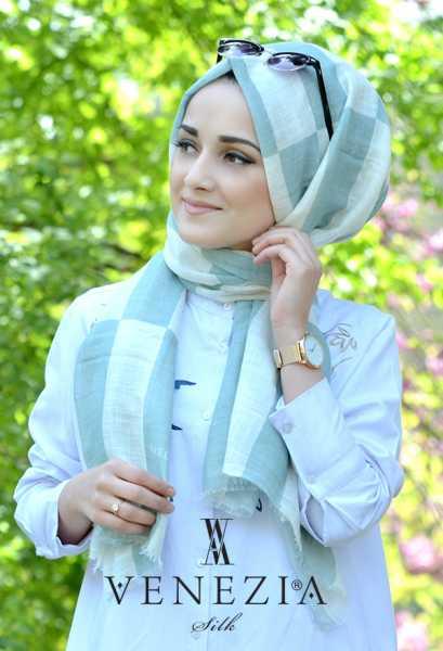 AKEL - Akel Geometrik Desen Cotton Şal 35242-006 (1)