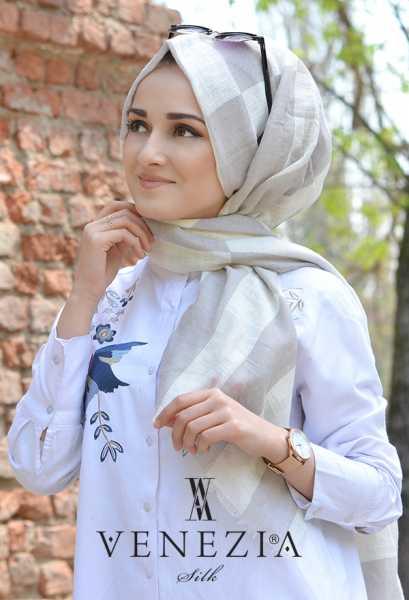 AKEL - Akel Geometrik Desen Cotton Şal 35242-009 (1)