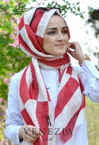 AKEL - Akel Geometrik Desen Cotton Şal 35242-011 (1)