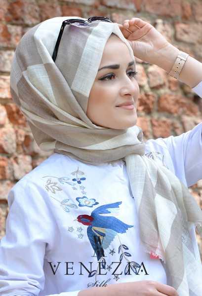 AKEL - Akel Geometrik Desen Cotton Şal 35242-014 (1)