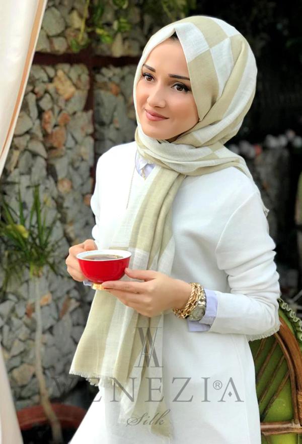 Akel Geometrik Desen Cotton Şal 35242-012