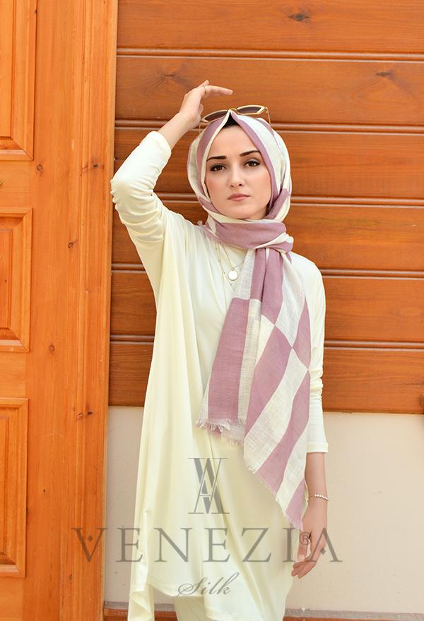 Akel Geometrik Desen Cotton Şal 35242-007
