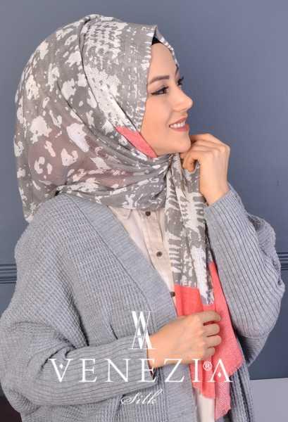 AKEL - Akel Gölge Desen Cotton Şal 35217-005 (1)
