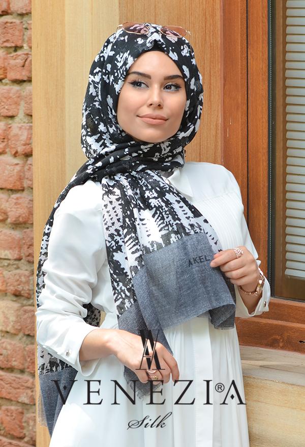 Akel Gölge Desen Cotton Şal 35217-004