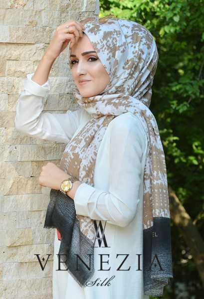 AKEL - Akel Gölge Desen Cotton Şal 35217-007 (1)