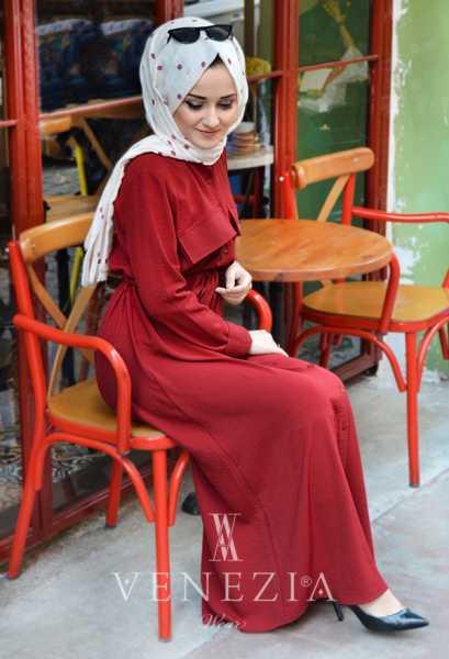 EBRULİM - Ebrulim Cepli Elbise 35323-003 (1)