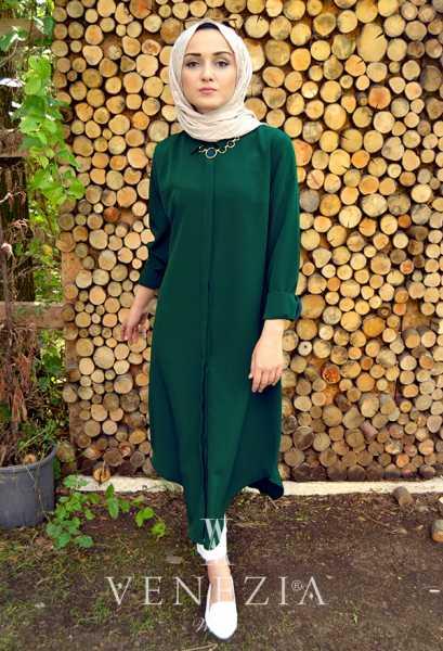 EBRULİM - Ebrulim Düz Renk Gömlek Tunik 35363-002 (1)