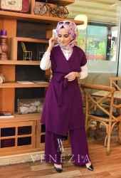 Ebrulim Yelekli Pantolon Takım 35337-002 - Thumbnail
