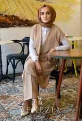 Ebrulim Yelekli Pantolon Takım 35337-003 - Thumbnail