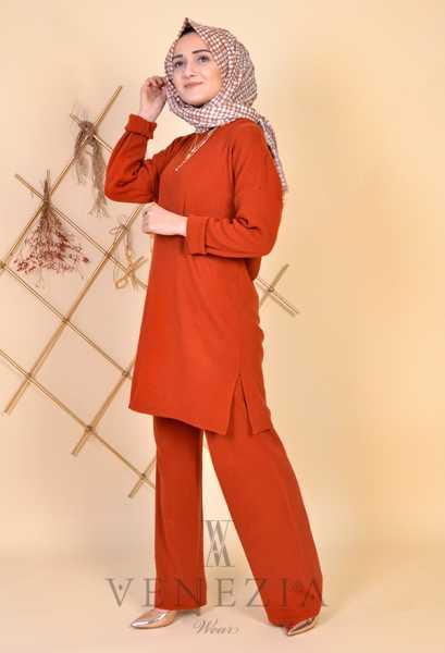 ESRA ÜSTÜN - Esra Üstün Koleksiyonu Tunik Pantolon Takımı 35287-001 (1)