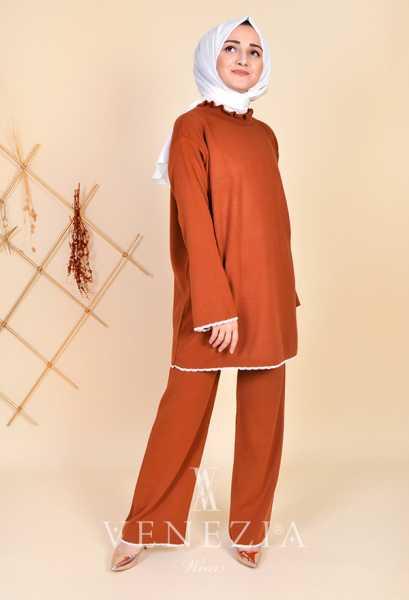 ESRA ÜSTÜN - Esra Üstün Koleksiyonu Tunik Pantolon Takımı 35290-001 (1)
