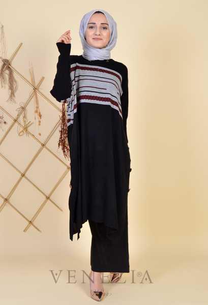 ESRA ÜSTÜN - Esra Üstün Koleksiyonu Tunik Pantolon Takımı 35292-001 (1)