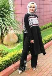 Esra Üstün Koleksiyonu Tunik Pantolon Takımı 35292-001 - Thumbnail