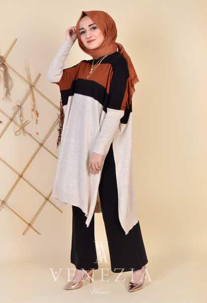 ESRA ÜSTÜN - Esra Üstün Koleksiyonu Tunik Pantolon Takımı 35292-002 (1)