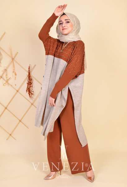 ESRA ÜSTÜN - Esra Üstün Koleksiyonu Tunik Pantolon Takımı 35292-003 (1)