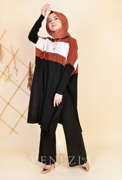 ESRA ÜSTÜN - Esra Üstün Koleksiyonu Tunik Pantolon Takımı 35292-005 (1)