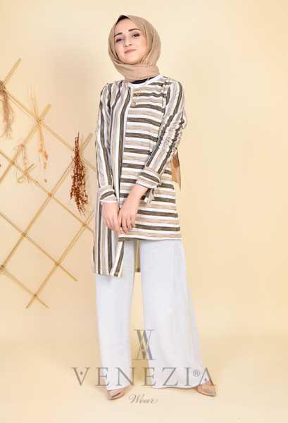 ESRA ÜSTÜN - Esra Üstün Koleksiyonu Tunik Pantolon Takımı 35294-001 (1)