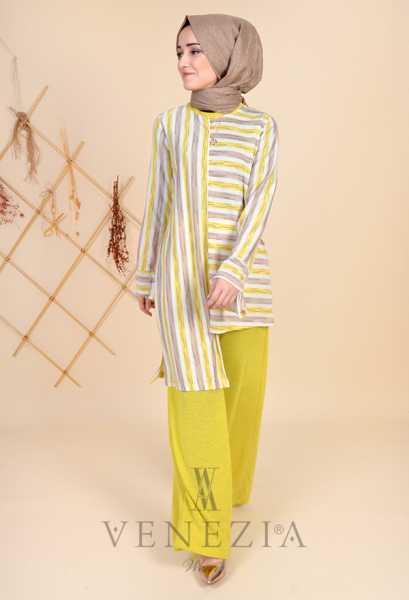 ESRA ÜSTÜN - Esra Üstün Koleksiyonu Tunik Pantolon Takımı 35294-002 (1)