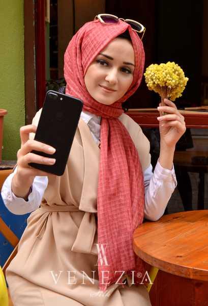 MODAKAŞMİR - Modakaşmir Mira Cotton Şal 35336-016 (1)