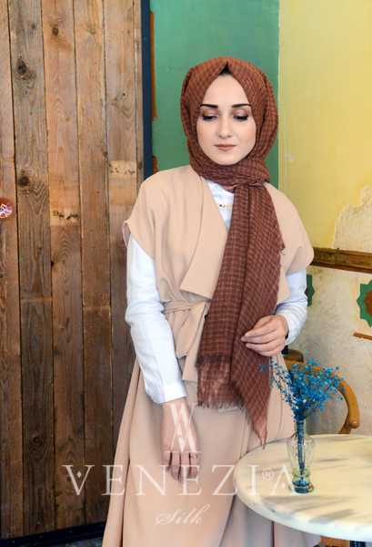 MODAKAŞMİR - Modakaşmir Mira Cotton Şal 35336-004 (1)