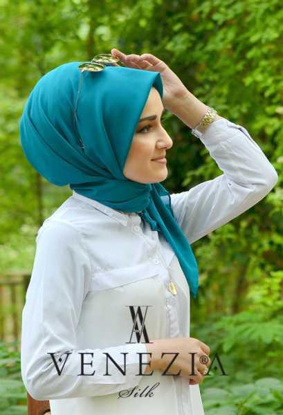 SURA İPEK - Sura Düz Renk Medine İpeği Şaleşarp 35255-008 (1)