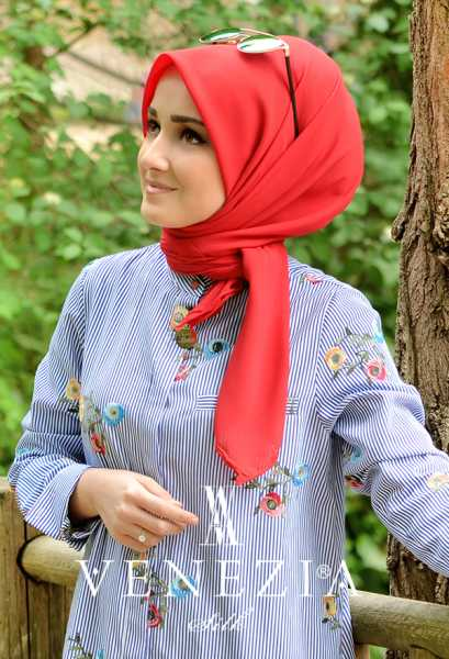 3 Adet Şal 100 tl - Sura Düz Renk Medine İpeği Şaleşarp 35255-010 (1)
