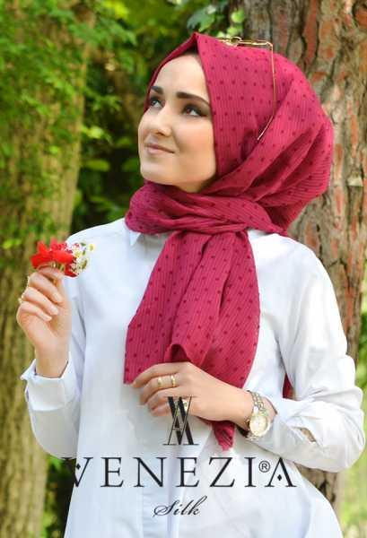 SURA İPEK - Sura Düz Renk Ponponlu Cotton Şal 35254-001 (1)