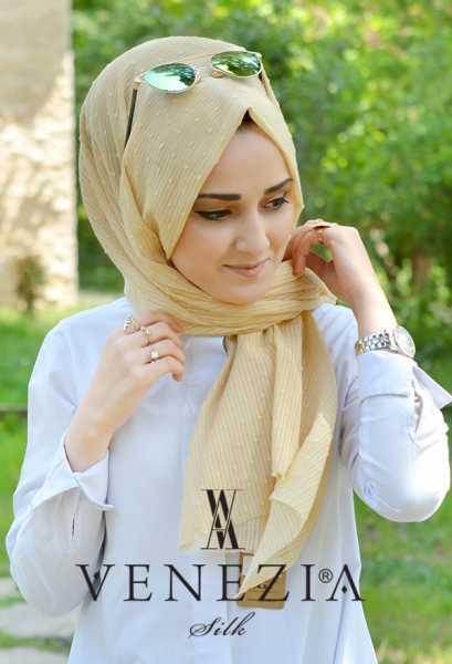 SURA İPEK - Sura Düz Renk Ponponlu Cotton Şal 35254-006 (1)