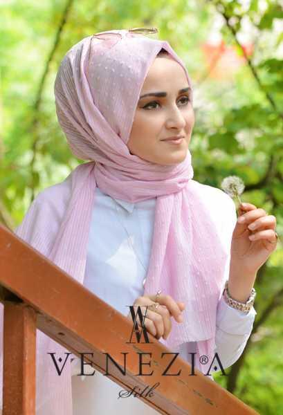 SURA İPEK - Sura Düz Renk Ponponlu Cotton Şal 35254-007 (1)