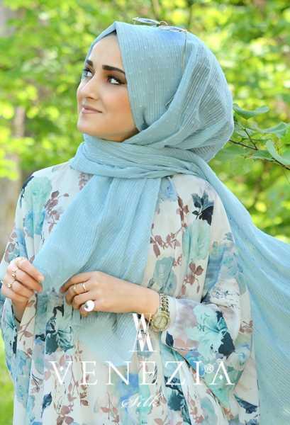 SURA İPEK - Sura Düz Renk Ponponlu Cotton Şal 35254-010 (1)