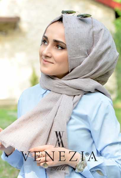 SURA İPEK - Sura Düz Renk Ponponlu Cotton Şal 35254-012 (1)