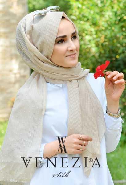 SURA İPEK - Sura Düz Renk Ponponlu Cotton Şal 35254-014 (1)