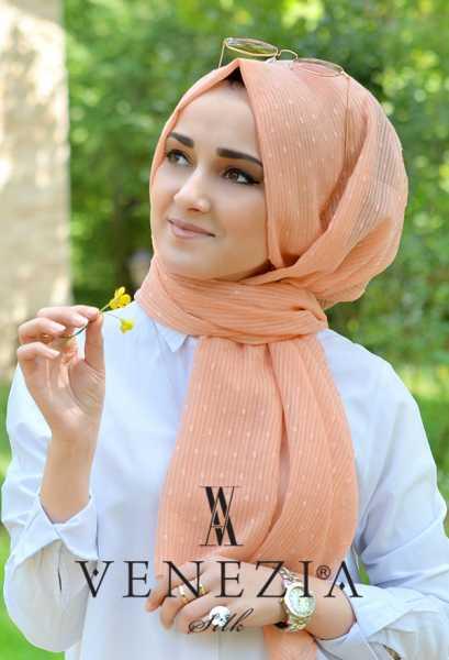 SURA İPEK - Sura Düz Renk Ponponlu Cotton Şal 35254-015 (1)