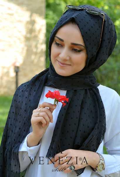 SURA İPEK - Sura Düz Renk Ponponlu Cotton Şal 35254-019 (1)