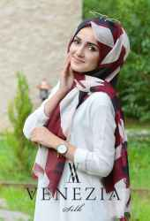 SURA GEOMETRİK DESEN COTTON ŞAL 35274-011 - Thumbnail