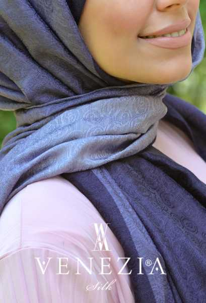 SURA İPEK - Sura Hologram Batik İpek Şal 35265-008 (1)