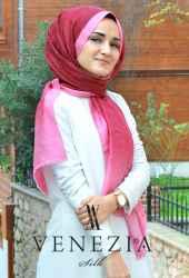 Sura Hologram Batik İpek Şal 35265-018 - Thumbnail