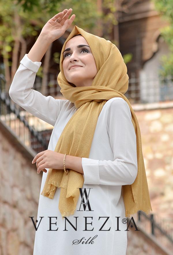 Sura Simli Dokuma Cotton Şal 35279-003