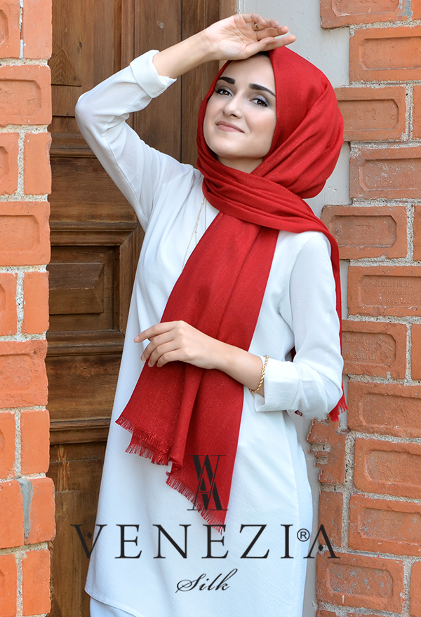 Sura Simli Dokuma Cotton Şal 35279-008