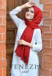 Sura Simli Dokuma Cotton Şal 35279-008 - Thumbnail