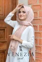 Sura Simli Dokuma Cotton Şal 35279-010 - Thumbnail