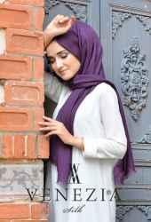 Sura Simli Dokuma Cotton Şal 35279-011 - Thumbnail
