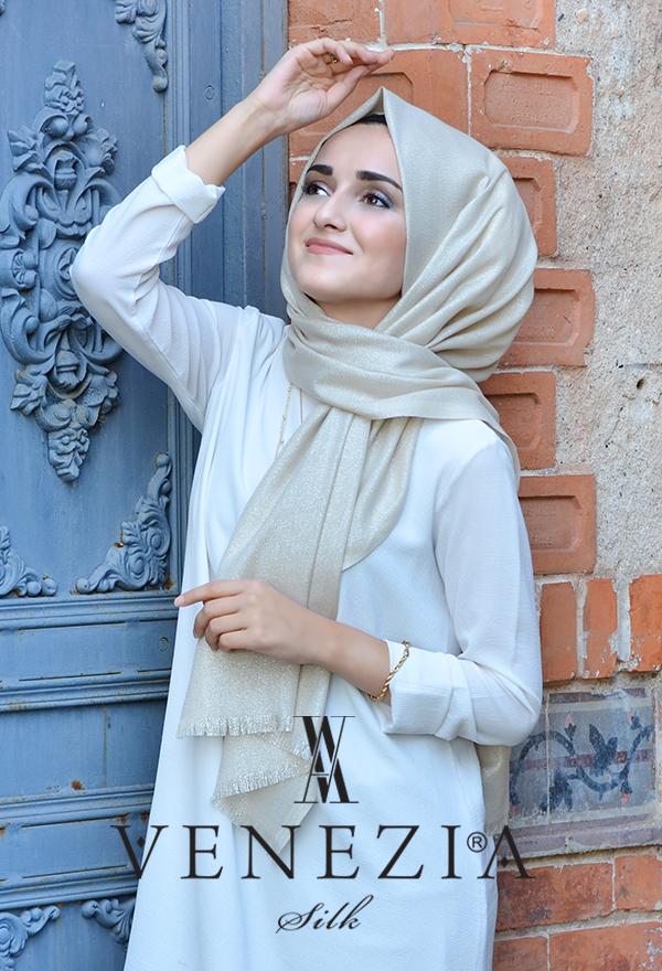 Sura Simli Dokuma Cotton Şal 35279-014