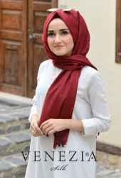 Sura Simli Dokuma Cotton Şal 35279-016 - Thumbnail
